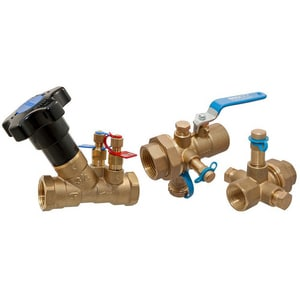 Nibco Flo-Boss® Coil-Connect® Threaded Manual Balancing Isolation Valve Kit NNCC1T