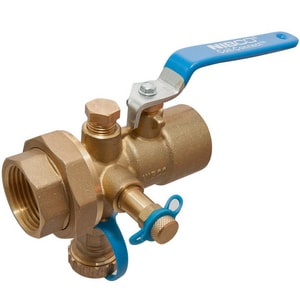 Nibco Flo-Boss® NPT Brass Ball Valve with DRAIN NT1830