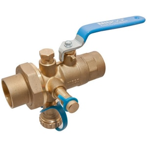 Nibco S-1830 Sweat Combination Ball Valve with Drain NS1830