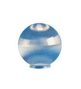 Crown Plastics 6 in. Necked Acrylic Globe Shade in Clear C21006CL3F