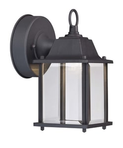 LED Cube Porch Lantern in Black CLED700205