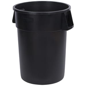 Carlisle Foodservice Bronco™ Round Waste Bin Trash Container in Black C34104403