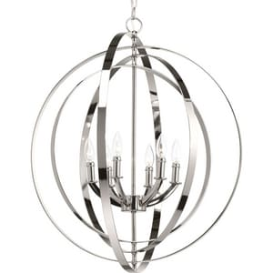 Progress Lighting Equinox 6 Light 60 W Candelabra Pendant PP3889