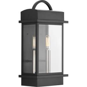 Progress Lighting Santee 2-Light 60W Up Lighting Small Outdoor Wall Lantern PP560002