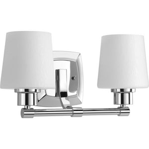 Progress Lighting Glance 100W 2-Light Bath Vanity Light in Polished Chrome PP300017015