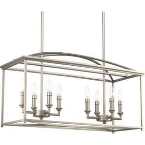 Progress Lighting Piedmont 8-Light 60W Candelabra E-12 Incandescent Chandelier PP400033