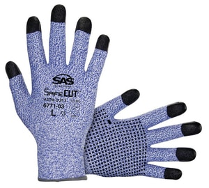 SAS Safety Safecut™ HPPE Knit Gloves with PVC Grip S67710