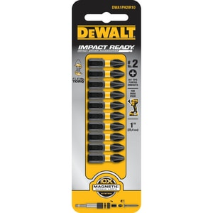 DEWALT Impact Ready® 1 in. Impact Ready Bits 10 Pack DDWA1PH2IR10