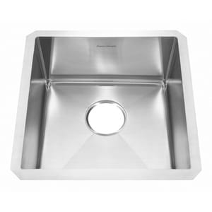 American Standard Pekoe® 17 x 17 in. 1-Bowl Undermount Pekoe Kitchen Sink in Stainless Steel A18SB8171700075