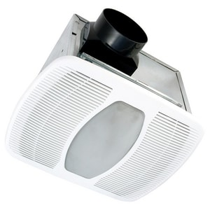 Air King America 13-3/4 in. 80 cfm Ceiling Mount Exhaust Fan with LED Light ALEDAK80