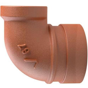 Victaulic Style 67 NPT Reducing Ductile Iron 90 Degree Bend VFB067P00
