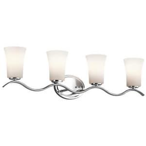 Kichler Lighting 100W 4-Light Medium E-26 LED Bath Light KK45377L16