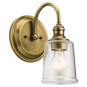 Kichler Lighting Waverly 60W 1-Light Wall Sconce in Natural Brass KK45745NBR