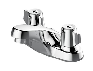 PROFLO® 3-1/16 in. 1.2 gpm 2-Hole Centerset Lavatory Faucet with Double Rhombus Handle in Polished Chrome PFWSCM2M101