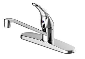 PROFLO® 10-1/8 in. 1.8 gpm 3-Hole Kitchen Sink Faucet with Single-Handle in Polished Chrome PFXCM1M202