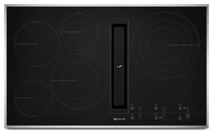 Jennair JX3™ 36-5/16 in. 5-Burner Electric Downdraft Cooktop with Glass-Touch Electronic Control JJED4536G