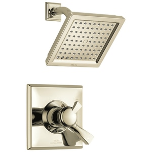 Delta Faucet Dryden™ 1.75 gpm Wall Mount Pressure Balance Shower Faucet Trim Only with Single Lever Handle DT17251WE