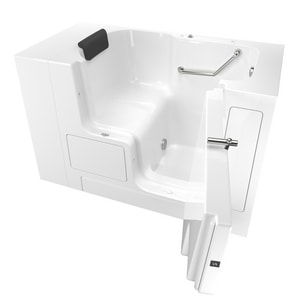 American Standard 105 Premium Series 52 x 32 in. Gelcoat Rectangle Walk-In and Built-In Bathtub with Right Drain A3252OD105SR