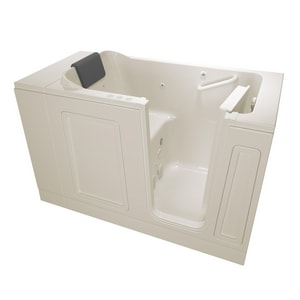 American Standard 115 Luxury Series 50-1/2 x 30 in. 39-Jet Acrylic Rectangle Built-In and 3-Wall Alcove Bathtub with Right Drain A3051115CR