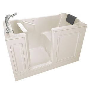 American Standard 219 Luxury Series 59-3/4 x 32 in. Acrylic Rectangle Walk-In and Built-In Bathtub with Left Drain A3260219SL