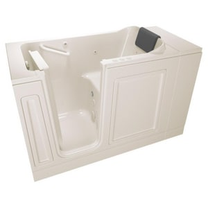 American Standard 115 Luxury Series 48 x 28 in. 39-Jet Acrylic, Fiberglass and Gelcoat Rectangle Built-In 3-Wall Alcove Bathtub with Left Drain A2848115CL