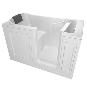 American Standard 215 Premium Series 59-3/4 x 32 in. 26-Jet Acrylic Rectangle Built-In and 3-Wall Alcove Bathtub with Right Drain A3260215AR