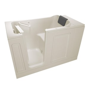 American Standard 115 Luxury Series 50-1/2 x 30 in. 26-Jet Acrylic Rectangle Built-In and 3-Wall Alcove Bathtub with Left Drain A3051115AL