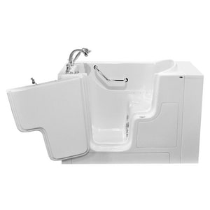 American Standard 709 Value Series 52 x 30 in. 27-Jet Gelcoat and Fiberglass Rectangle Built-In 3-Wall Alcove Bathtub with Left Drain A3052OD709CL