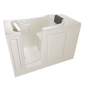 American Standard 105 Premium Series 48 x 28-1/2 in. 13-Jet Acrylic, Fiberglass and Gelcoat Rectangle Built-In 3-Wall Alcove Bathtub with Left Drain A2848105WL