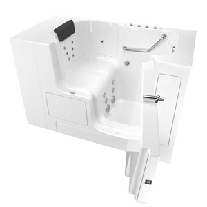 American Standard 105 Premium Series 52 x 32 in. 38-Jet Gelcoat Rectangle Built-In Bathtub with Right Drain A3252OD105CR