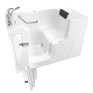 American Standard 109 Premium Series 52 x 32 in. Gelcoat Rectangle Walk-In and Built-In Bathtub with Left Drain A3252OD109SL
