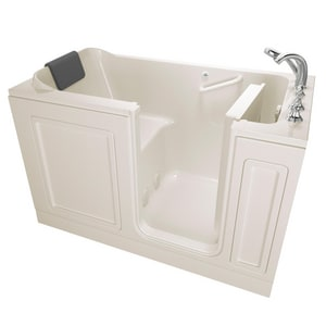 American Standard 219 Luxury Series 59-3/4 x 32 in. Acrylic Rectangle Walk-In and Built-In Bathtub with Right Drain A3260219SR