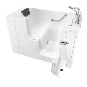 American Standard 109 Premium Series 52 x 30 in. 26-Jet Gelcoat and Fiberglass Rectangle Built-In 3-Wall Alcove Bathtub with Right Drain A3052OD109AR