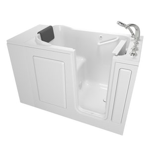 American Standard 109 Premium Series 48 x 28-1/2 in. Gelcoat Rectangle Walk-In and Built-In Bathtub with Right Drain A2848109SR