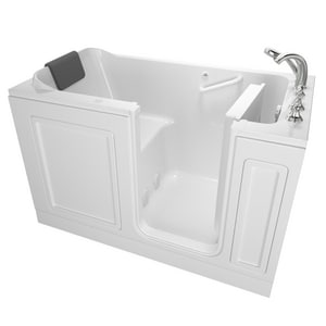 American Standard 119 Luxury Series 48 x 28 in. 26-Jet Acrylic, Fiberglass and Gelcoat Rectangle Built-In 3-Wall Alcove Bathtub with Right Drain A2848119AR