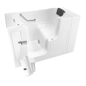 American Standard 105 Premium Series 52 x 30 in. Gelcoat Rectangle Walk-In and Built-In Bathtub with Left Drain A3052OD105SL