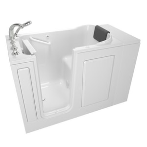 American Standard 109 Premium Series 48 x 28-1/2 in. 26-Jet Acrylic, Fiberglass and Gelcoat Rectangle Built-In 3-Wall Alcove Bathtub with Left Drain A2848109AL