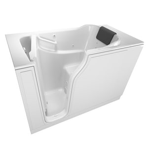 American Standard 105 Premium Series 51-1/2 x 29-3/4 in. 13-Jet Gelcoat and Fiberglass Rectangle Built-In 3-Wall Alcove Bathtub with Left Drain A3052105WL