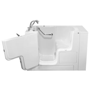American Standard 709 Value Series 52 x 32 in. Gelcoat Rectangle Walk-In and Built-In Bathtub with Left Drain A3252OD709SL