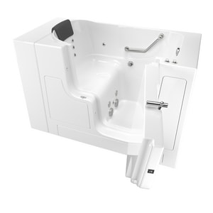 American Standard 105 Premium Series 52 x 30 in. 12-Jet Gelcoat and Fiberglass Rectangle Built-In 3-Wall Alcove Bathtub with Right Drain A3052OD105WR