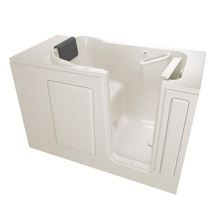 American Standard 105 Premium Series 48 x 28-1/2 in. 26-Jet Acrylic, Fiberglass and Gelcoat Rectangle Built-In 3-Wall Alcove Bathtub with Right Drain A2848105AR