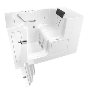 American Standard 105 Premium Series 52 x 32 in. 38-Jet Gelcoat Rectangle Built-In Bathtub with Left Drain A3252OD105CL