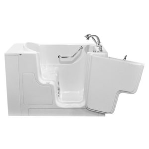 American Standard 709 Value Series 52 x 30 in. 27-Jet Gelcoat and Fiberglass Rectangle Built-In 3-Wall Alcove Bathtub with Right Drain A3052OD709CR