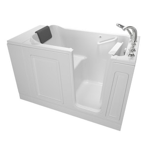 American Standard 119 Luxury Series 50-1/2 x 30 in. Acrylic Rectangle Walk-In and Built-In Bathtub with Right Drain A3051119SR