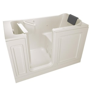 American Standard 215 Premium Series 59-3/4 x 32 in. 13-Jet Acrylic Rectangle Built-In and 3-Wall Alcove Bathtub with Left Drain A3260215WL