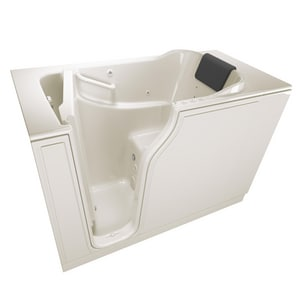 American Standard 105 Premium Series 51-1/2 x 29-3/4 in. 39-Jet Gelcoat and Fiberglass Rectangle Built-In 3-Wall Alcove Bathtub with Left Drain A3052105CL