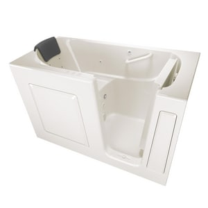 American Standard 105 Premium Series 59-1/2 x 29-3/4 in. 39-Jet Gelcoat and Fiberglass Rectangle Built-In 3-Wall Alcove Bathtub with Right Drain A3060105CR