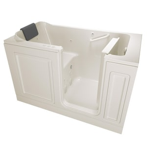 American Standard 215 Premium Series 59-3/4 x 32 in. 39-Jet Acrylic Rectangle Built-In and 3-Wall Alcove Bathtub with Right Drain A3260215CR