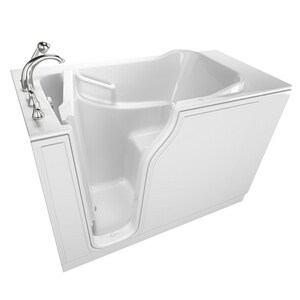 American Standard 709 Value Series 52 x 32 in. 6-Jet Gelcoat Rectangle Built-In Bathtub with Left Drain A3252OD709WL