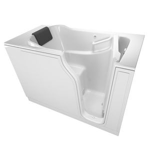 American Standard 105 Premium Series 51-1/2 x 29-3/4 in. Gelcoat Rectangle Walk-In and Built-In Bathtub with Right Drain A3052105SR
